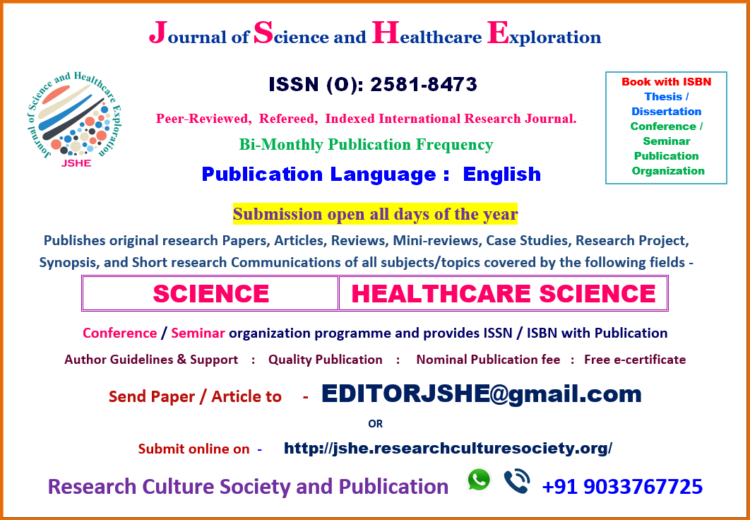 2019 Issues – Journal of Science and Healthcare Exploration