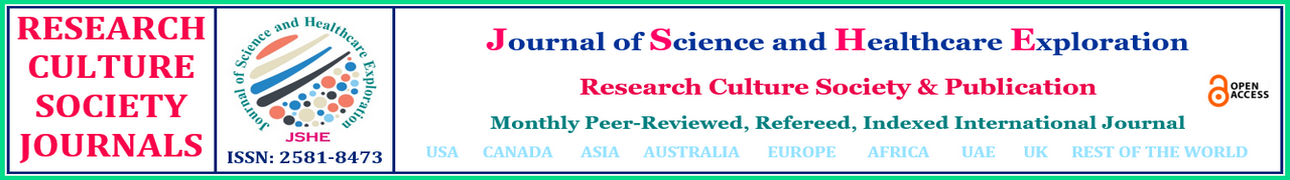 Journal of Science and Healthcare Exploration   (JSHE)  ISSN : 2581-8473   –  Refereed, Peer-Reviewed International Research Journal